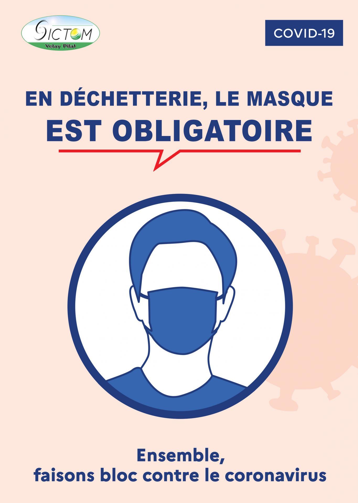 Affiche masque obligatoire dechetterie